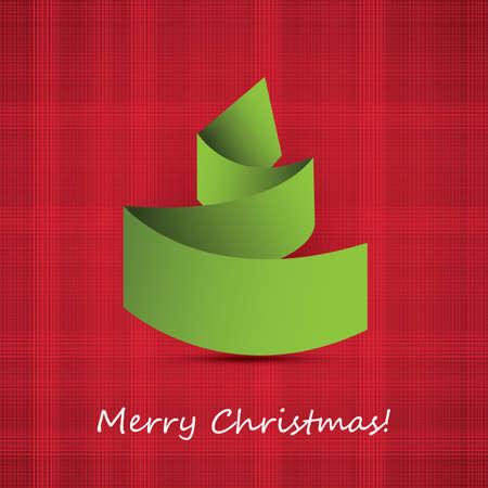 Origami Christmas Tree Card Stock Vector - 16241782