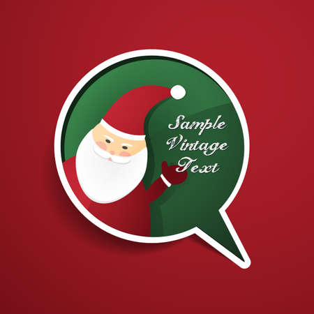Speech Bubble with Santa Claus Vector