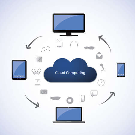 Cloud computing concept Stock Vector - 16543735