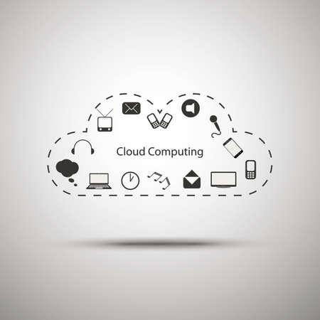 Cloud computing concept design Stock Vector - 16498580