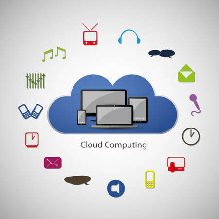 Cloud computing concept Stock Vector - 16447008