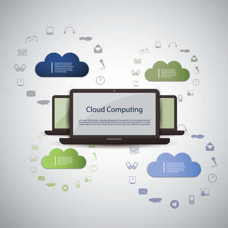 Cloud computing concept Stock Vector - 16571693