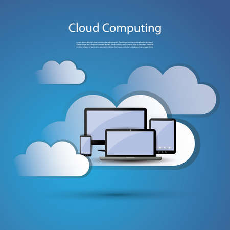 Cloud computing concept Stock Vector - 16593035