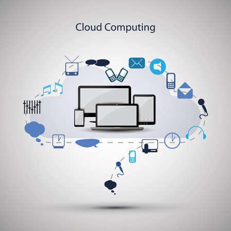 cloud: Cloud computing concept Illustration