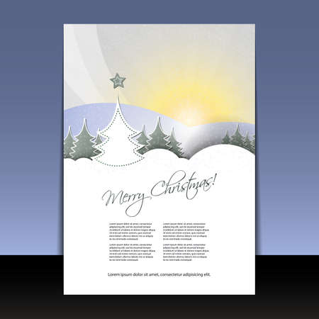 year curve: Christmas Flyer or Cover Design