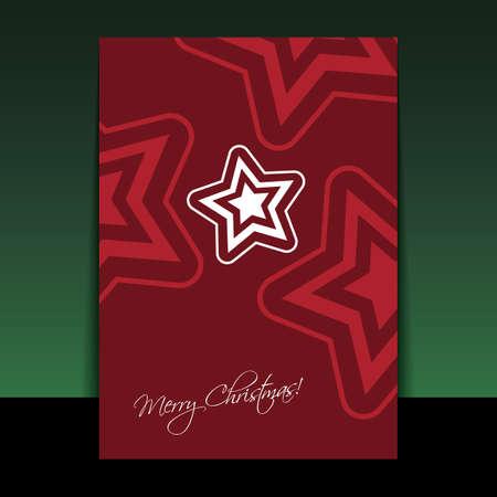 xmas star: Christmas Flyer or Cover Design