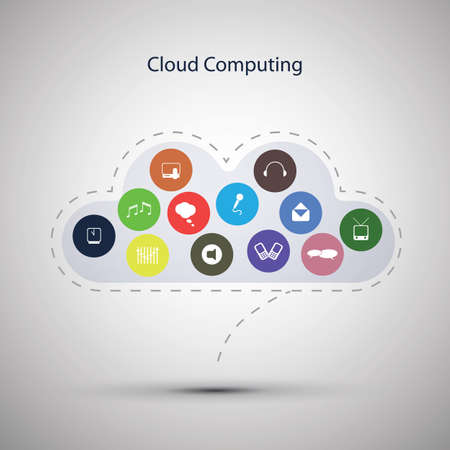 Cloud computing concept Stock Vector - 16790255