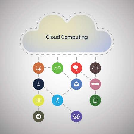 Cloud computing concept Stock Vector - 16689331