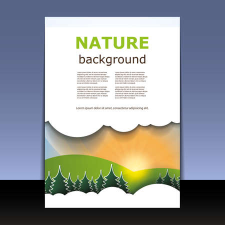 Flyer or Cover Design - Nature Vector