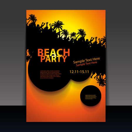 Flyer or Cover Design - Beach Party Stock Vector - 16757376