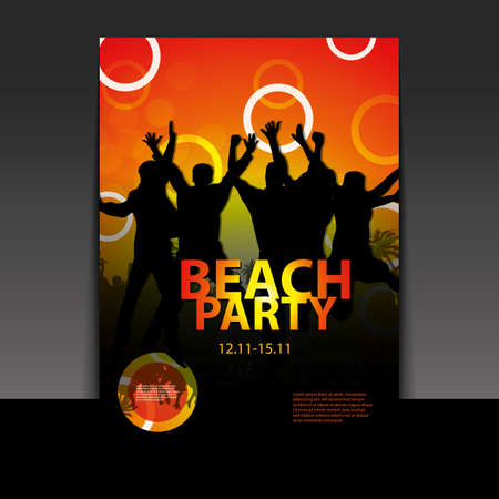 Flyer or Cover Design - Beach Party Vector