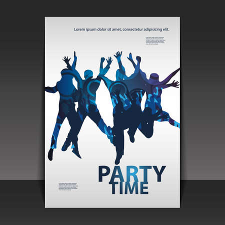 Flyer or Cover Design - Party Time Vector