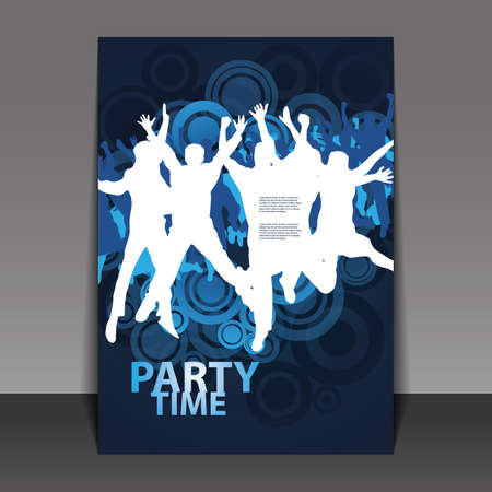 dancing disco: Flyer or Cover Design - Beach Party