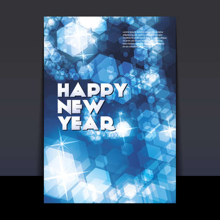New Year Flyer or Cover Design Stock Vector - 16730319