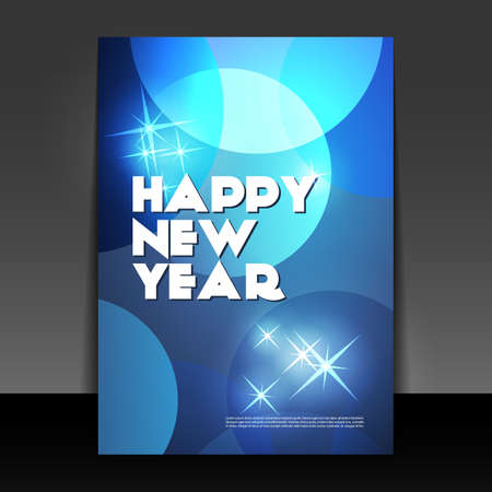 New Year Flyer or Cover Design Stock Vector - 16689507