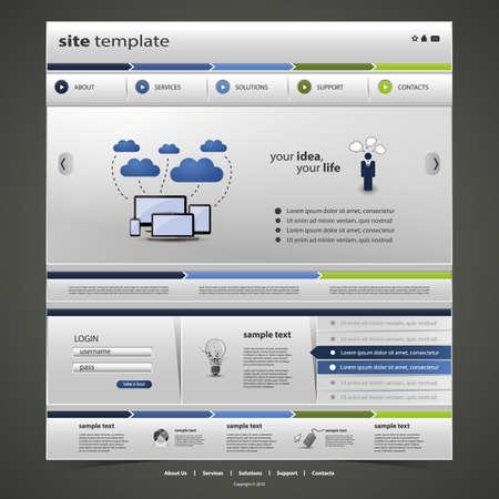 Website Template Stock Vector - 16776707