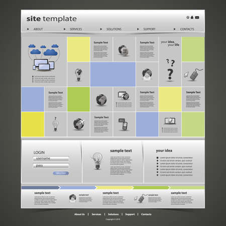 pages template: Website Template