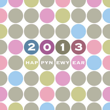 New Year Card Template Vector