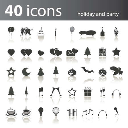 40: 40 holiday and party icons