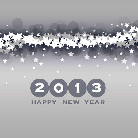 New Year Card, Cover or Background Template Vector