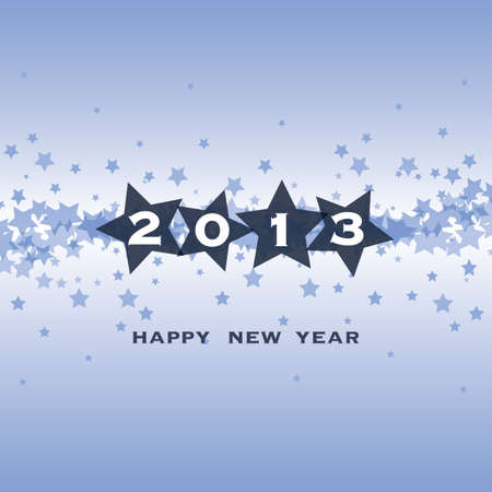 twenty thirteen: New Year Card, Cover or Background Template Illustration