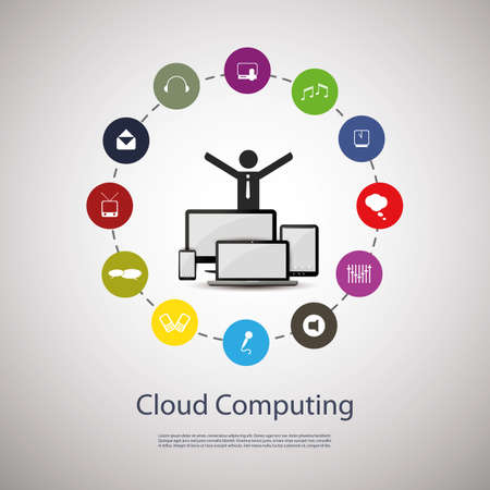 Cloud computing concept Stock Vector - 16995631