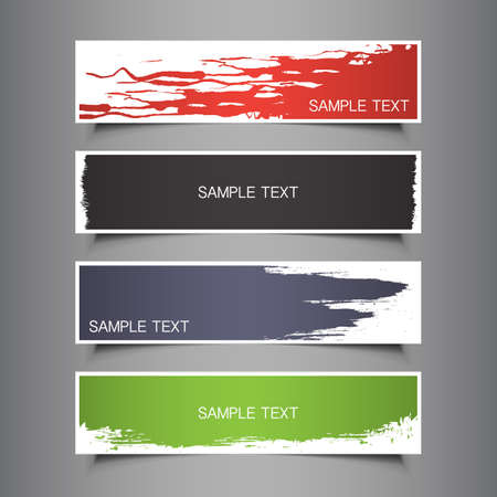 paint peeling: Colorful Tag, Label or Banner Designs