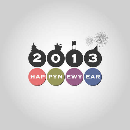New Year Card Background Vector
