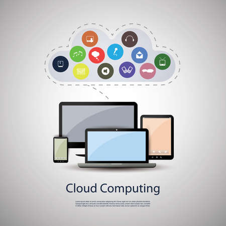 Cloud computing concept Stock Vector - 17137681