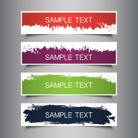 Colorful Tag, Label or Banner Designs Stock Vector - 17337986