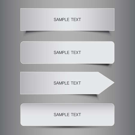 Black and White Tag, Label and Banner Designs  Vector