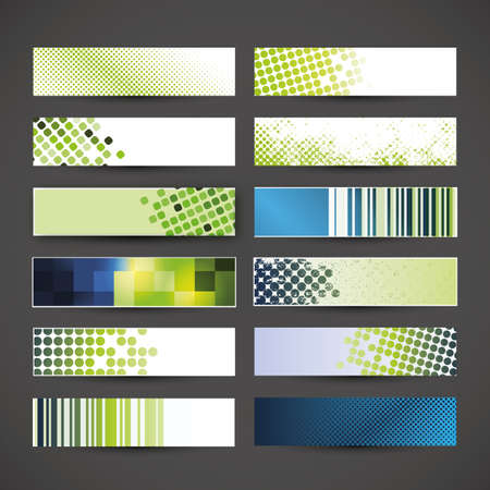 12 blank banner designs Stock Vector - 17129031