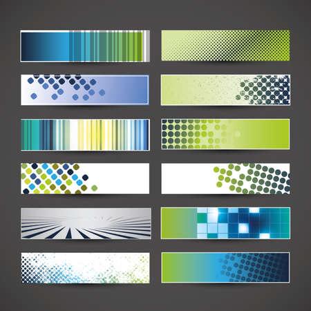 12 blank banner designs Stock Vector - 17162689