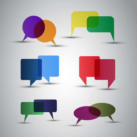 talking: Speech Bubbles Illustration