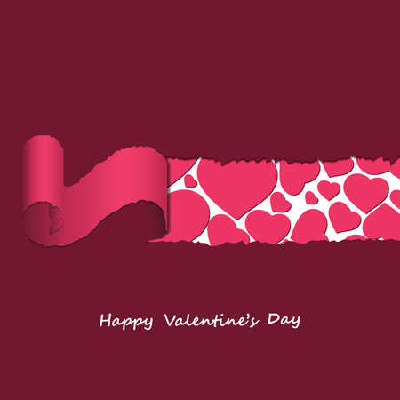 Valentines Day Card  Stock Vector - 17255701