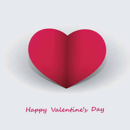 Paper Heart - Valentines Day Card  Stock Vector - 17623720