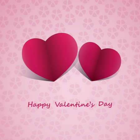 Paper Hearts - Valentines Day Card Stock Vector - 17395575