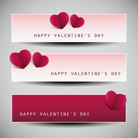 Valentines Day Banner Designs  Stock Vector - 17637831