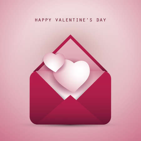 Message for Your Love - Valentines Day Card Vector