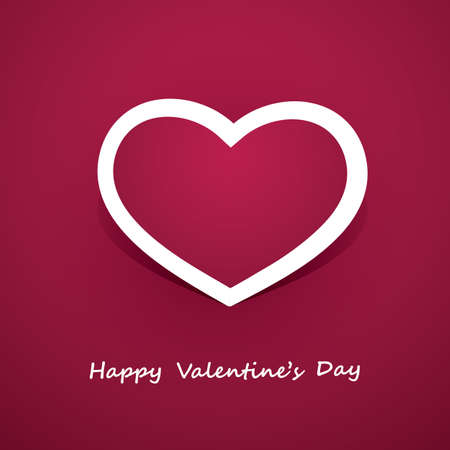 Paper Heart - Valentines Day Card  Stock Vector - 17568182