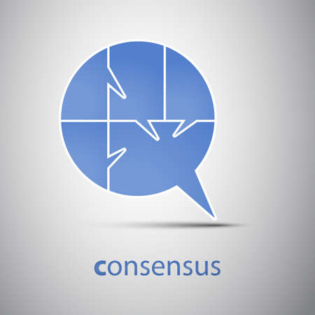 Consensus - Speech Bubble Concept Stock Vector - 17725809