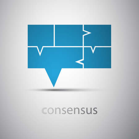 stylized design: Consensus - Speech Bubble Concept