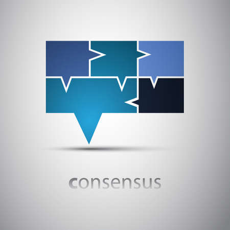 big business: Consensus - Speech Bubble Concept