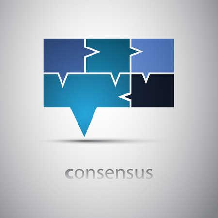 Consensus - Speech Bubble Concept Stock Vector - 17870114