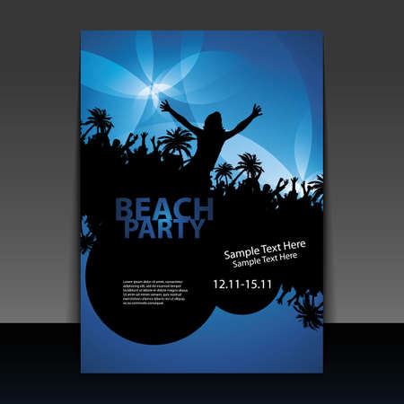 beach happy new year: Party Flyer or Cover Design