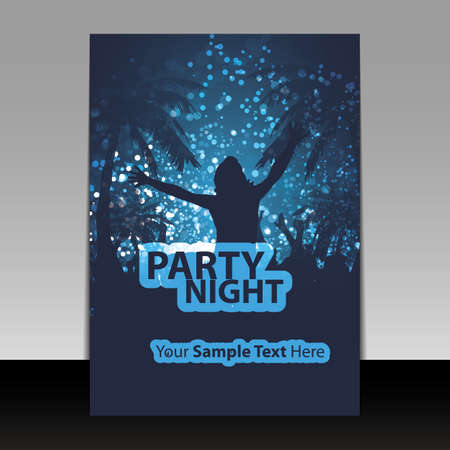 Party Flyer or Cover Design Vector