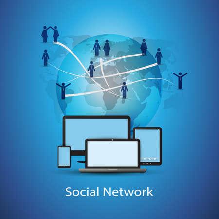 mobile computing: Social Network Concept