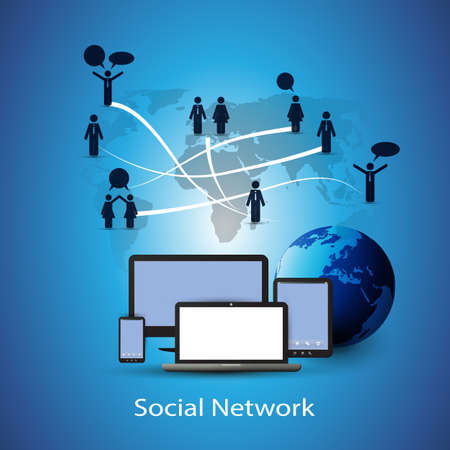phone system: Social Network Concept