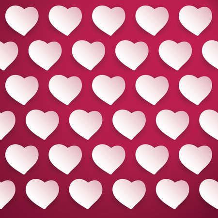 Hearts - Valentines Day Background Vector