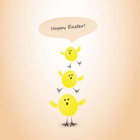 Funny Happy Easter Card Vector